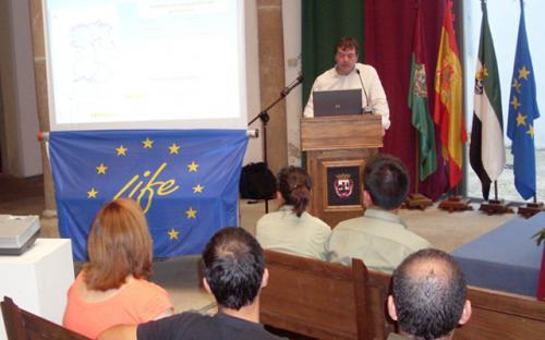 Roberto Rubio, coordinador del Proyecto LIFE+Desmania. 20 de septiembre de 2013, Plasencia (Cáceres)